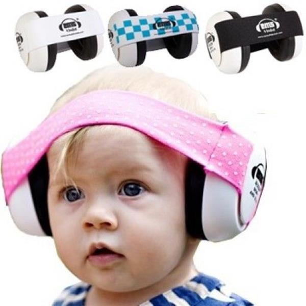 Grote foto gehoorbeschermer voor baby wit roze kinderen en baby overige