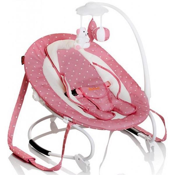 Grote foto perla bouncer relax wipstoel pink kinderen en baby wipstoeltjes