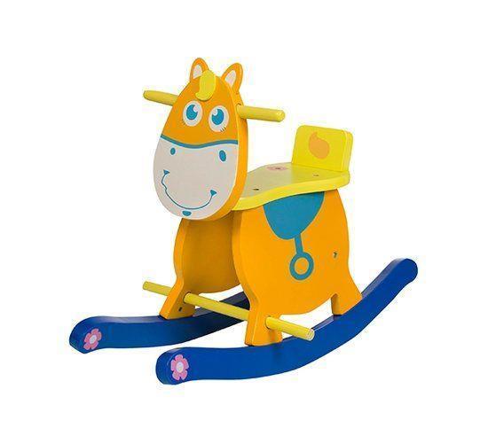 Grote foto houten hobbelpaard liam het paard kinderen en baby babyspeelgoed