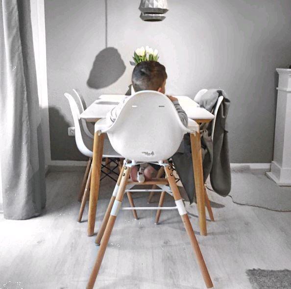 Grote foto evolu high chair kinderstoel 2 in 1. naturel wit kinderen en baby kinderstoelen
