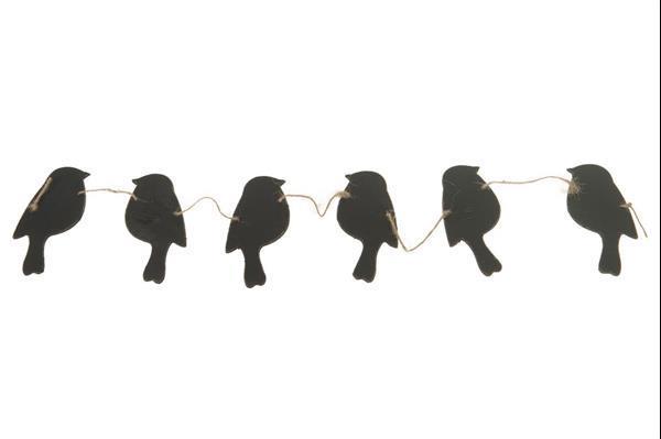 Grote foto vogelguirlande schoolbord bird garland blackbo. a. rd 12x76c verzamelen overige verzamelingen