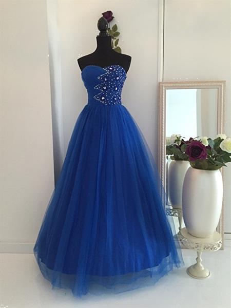 Grote foto opruiming royalblauwe verlovingsjurk mt 32 t m 40 kleding dames trouwkleding