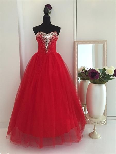 Grote foto rode trouwjurk maat 32 t m 42 kleding dames trouwkleding