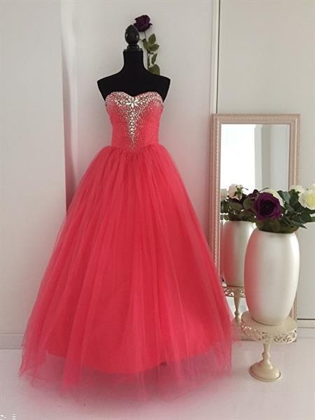 Grote foto perzik kleur trouwjurk maat 32 t m 42 kleding dames trouwkleding