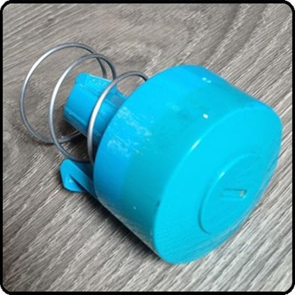 Grote foto dyson dc08 dc08t aan uit knop blauw met veer gebruikt witgoed en apparatuur stofzuigers