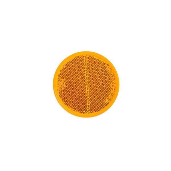 Grote foto reflector oranje rond 60mm 2 stuks auto diversen aanhangers