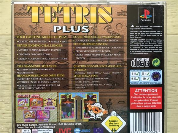 Grote foto ps1 tetris plus spelcomputers games playstation
