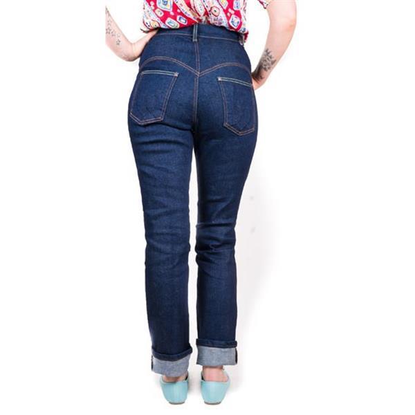 Grote foto lady k loves classic jeans. kleding dames broeken en pantalons