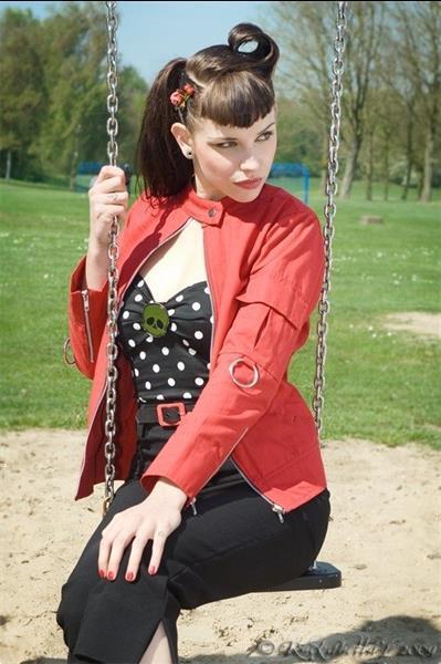 Grote foto suicide glam ring arms jacket in black in medium. kleding dames jurken en rokken