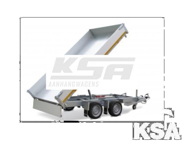 Grote foto eduard 3 zijdige kipper330 x 180 2500 kg aanhangwagen kippe auto diversen aanhangers