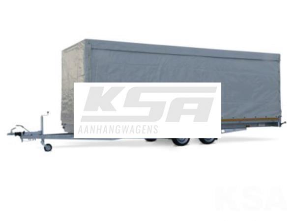 Grote foto eduard plateau multi 606 x 220 3000 kg open aanhangwagen auto diversen aanhangers