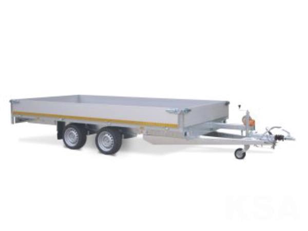 Grote foto eduard plateau406 x 220 2700 kg open aanhangwagen auto diversen aanhangers