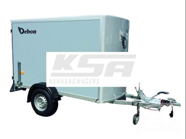 Grote foto debon c255 ppl255 x 125 1300 kg gesloten aanhangwagen auto diversen aanhangers
