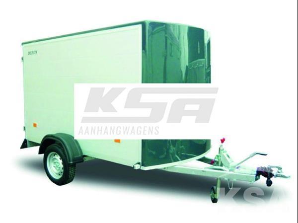 Grote foto debon c255 alu255 x 125 1300 kg gesloten aanhangwagen auto diversen aanhangers