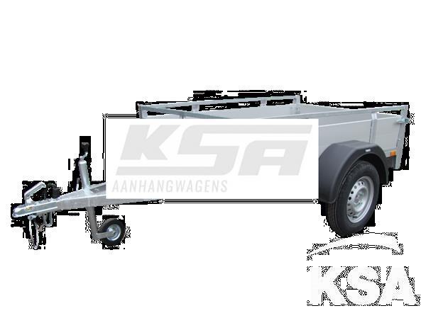 Grote foto twins ta09a aluminium225 x 132 x 40 750 kg open aanhangwage auto diversen aanhangers