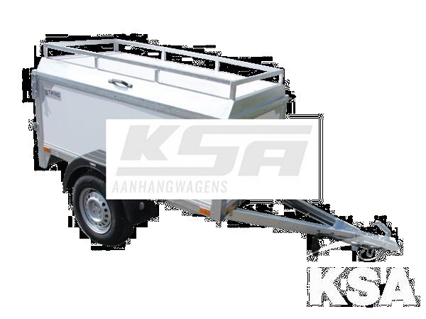 Grote foto twins tc01h150 x 100 x 60 750 kg bagage aanhangwagen auto diversen aanhangers