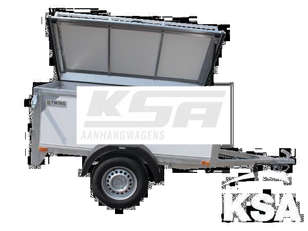 Grote foto twins tc01h200 x 100 x 60 750 kg bagage aanhangwagen auto diversen aanhangers