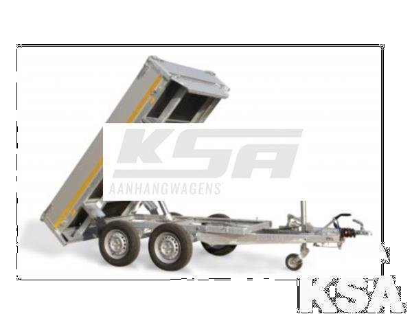 Grote foto eduard 3 zijdige kipper310 x 160 2500 kg aanhangwagen kippe auto diversen aanhangers