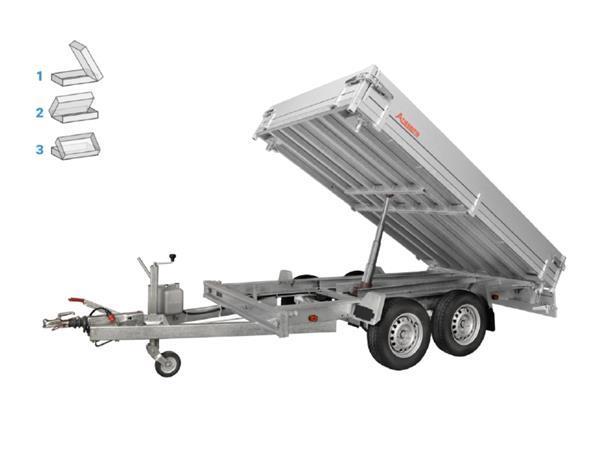 Grote foto anssems ksx 2500 h305 x 178 2500 kg aanhangwagen kipper auto diversen aanhangers