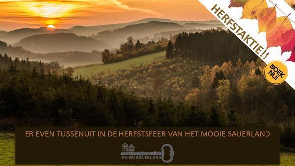 Grote foto genieten in de herfstsfeer van het mooie sauerland vakantie duitsland west