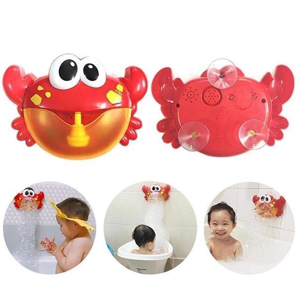Grote foto bubble crab bubbelmachine badspeelgoed voor kinderen kinderen en baby babyspeelgoed