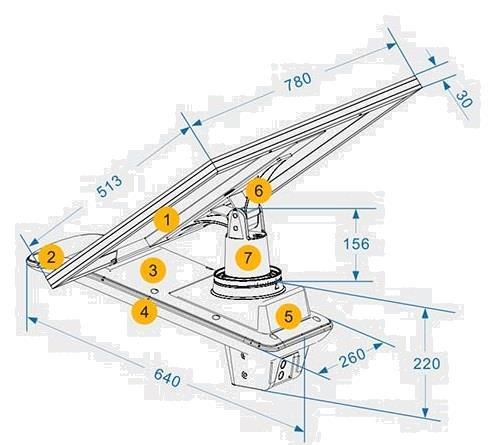 Grote foto led solar straatlantaarn armatuur voc 40w on top incl. afsta zakelijke goederen overige zakelijke goederen