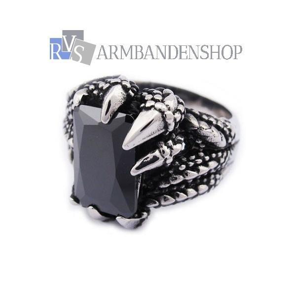 Grote foto div rvs skull biker harley doodskop ring armband sieraden tassen en uiterlijk ringen voor hem