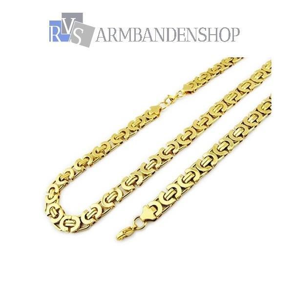 Grote foto div. rvs gouden koningsschakel ketting konings sieraden tassen en uiterlijk kettingen