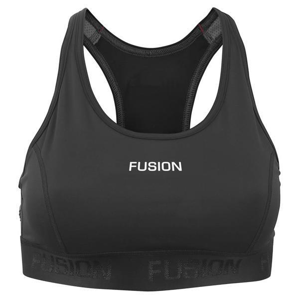 Grote foto fusion sport top black dames size x small kleding dames sportkleding