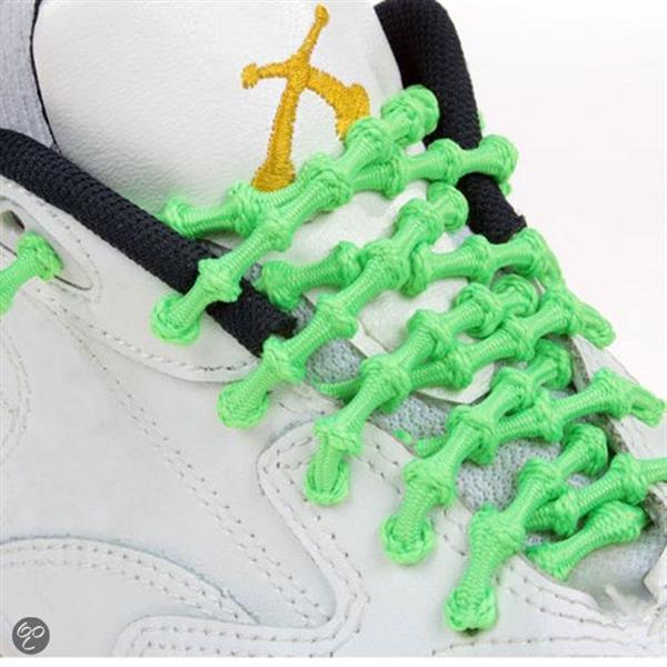 Grote foto xtenex elastische veters color groen kleding heren sportkleding