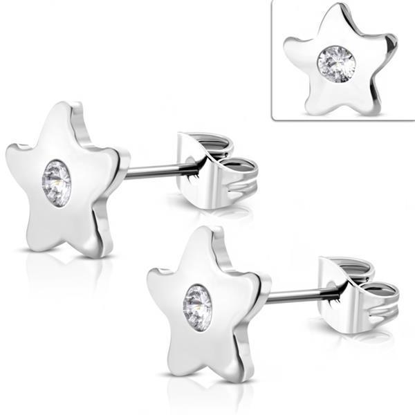 Grote foto kleine ster oorstekers chirurgisch staal sieraden tassen en uiterlijk dames