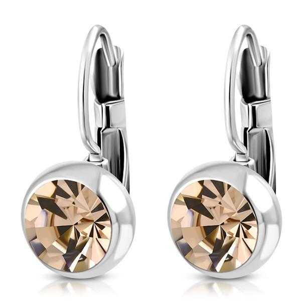 Grote foto oorhangers chirurgisch staal met topaas sieraden tassen en uiterlijk dames