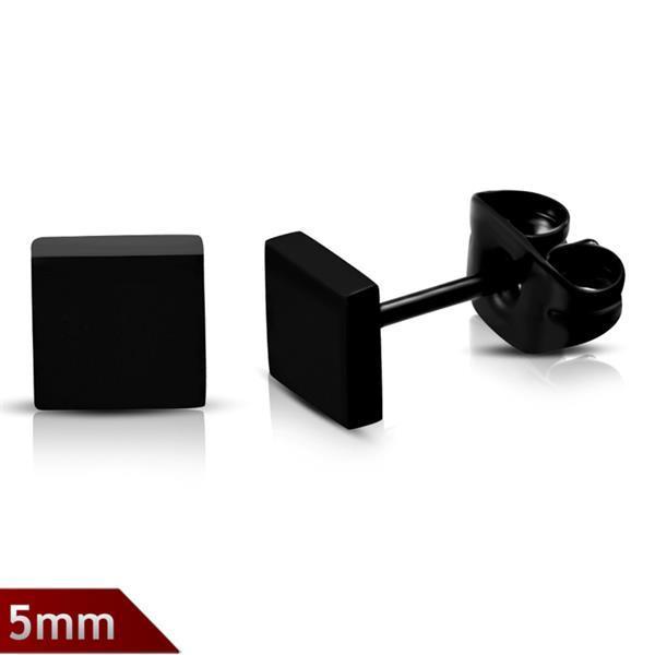 Grote foto kleine zwarte vierkant oorbellen sieraden tassen en uiterlijk dames
