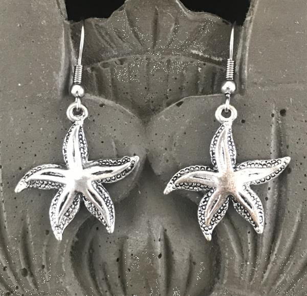 Grote foto oorbellen chirurgisch staal zeesterren sieraden tassen en uiterlijk oorbellen