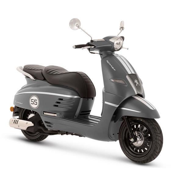 Grote foto peugeot django e5 mat grijs bij central scooters kopen 29 fietsen en brommers scooters