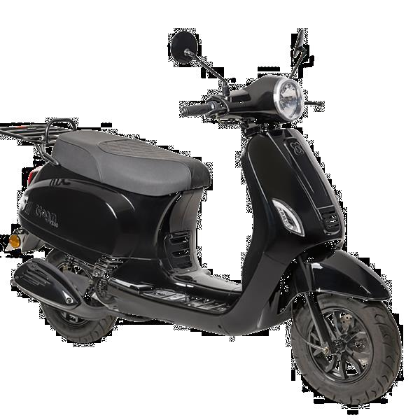 Grote foto agm vx50i e5 zwart bij central scooters kopen 1628 00 o fietsen en brommers scooters