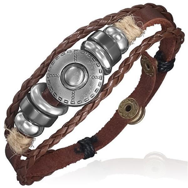 Grote foto bohemian leren ibiza bracelet sieraden tassen en uiterlijk armbanden voor haar