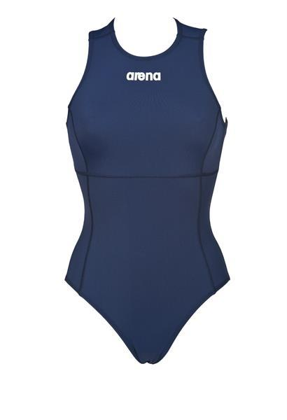 Grote foto arena w solid waterpolo one piece navy white 42 kleding dames badmode en zwemkleding