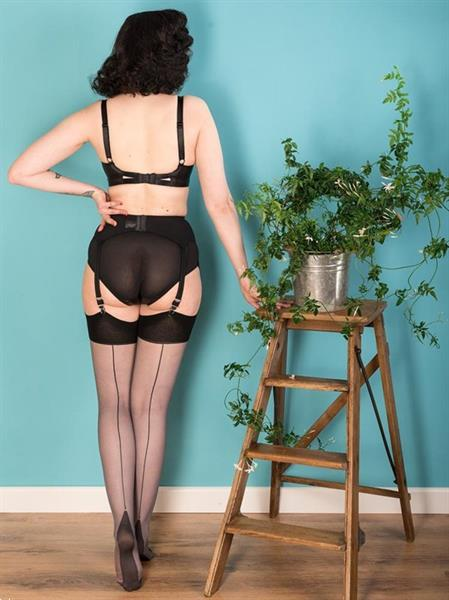 Grote foto what katie did seamed stockings grey glamour. kleding dames ondergoed