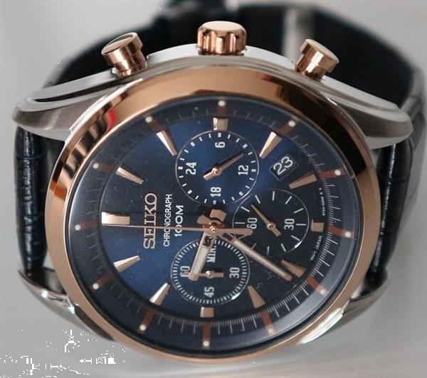 Grote foto seiko professional chronograaf rose verguld 18 karaat ss kleding dames horloges