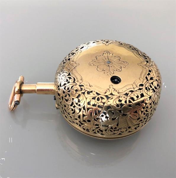 Grote foto charles cabrier gold repousse pair cases 1 4 quarter repe kleding dames horloges