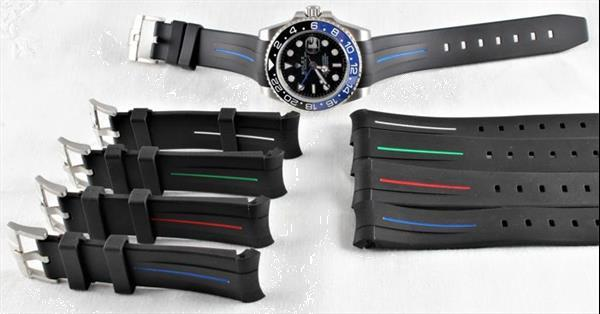 Grote foto swiss rubber b strap suitable for rolex daytona gmt kleding dames horloges
