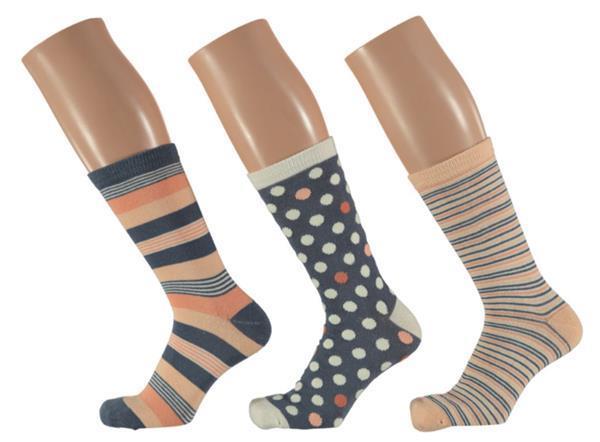 Grote foto 6x apollo dames sokken assortie zalm roze kleding heren ondergoed