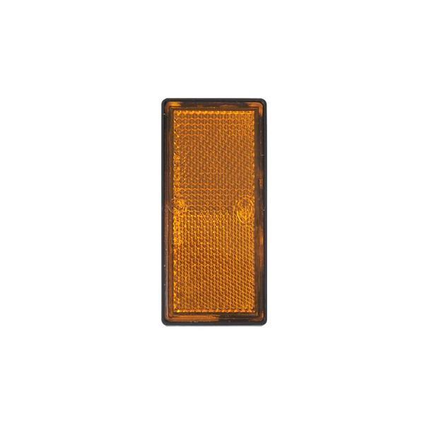 Grote foto reflector oranje 85x39mm zelfklevend auto diversen aanhangers