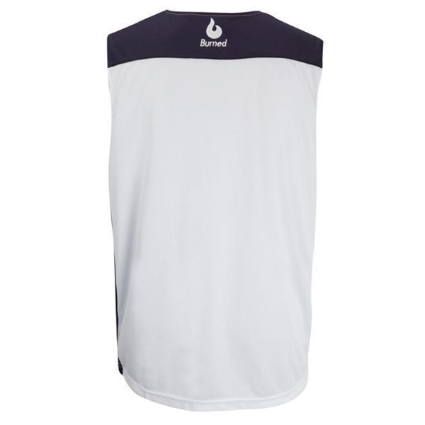 Grote foto burned dubbelzijdig jersey donkerblauw wit kledingmaat l kleding heren sportkleding