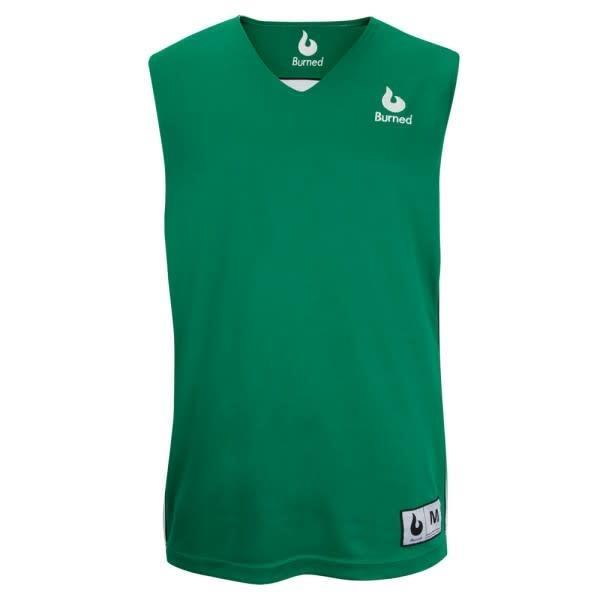 Grote foto burned dubbelzijdig jersey groen wit kledingmaat l kleding heren sportkleding
