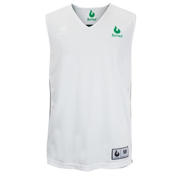 Grote foto burned dubbelzijdig jersey groen wit kledingmaat xl kleding heren sportkleding
