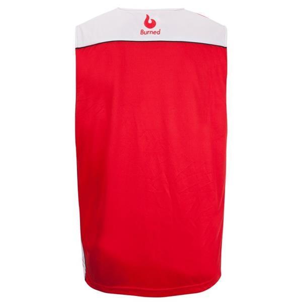 Grote foto burned dubbelzijdig jersey rood wit kledingmaat 3xl kleding heren sportkleding