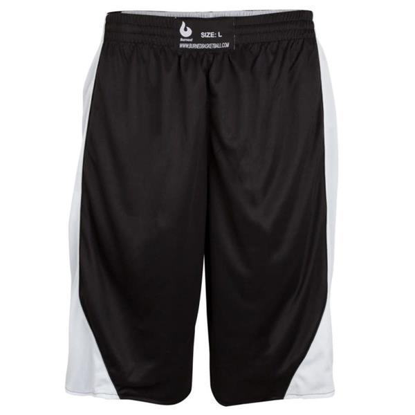 Grote foto burned dubbelzijdig short zwart wit kledingmaat xl kleding heren sportkleding
