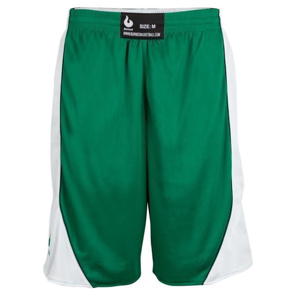 Grote foto burned dubbelzijdig short groen wit kledingmaat xxs kleding heren sportkleding